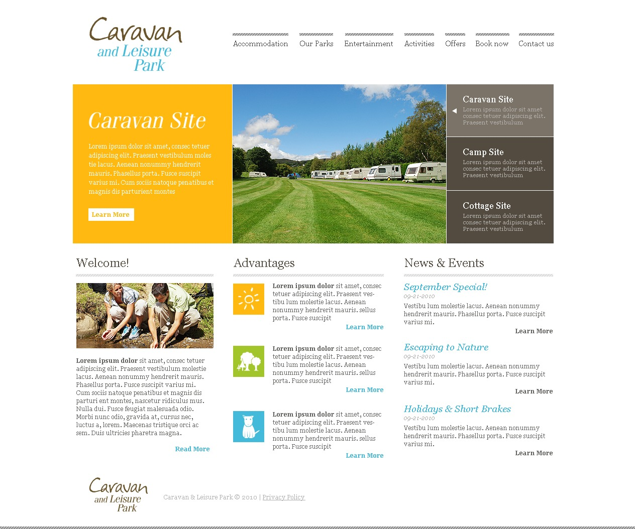 PSD Template over Camping №28064