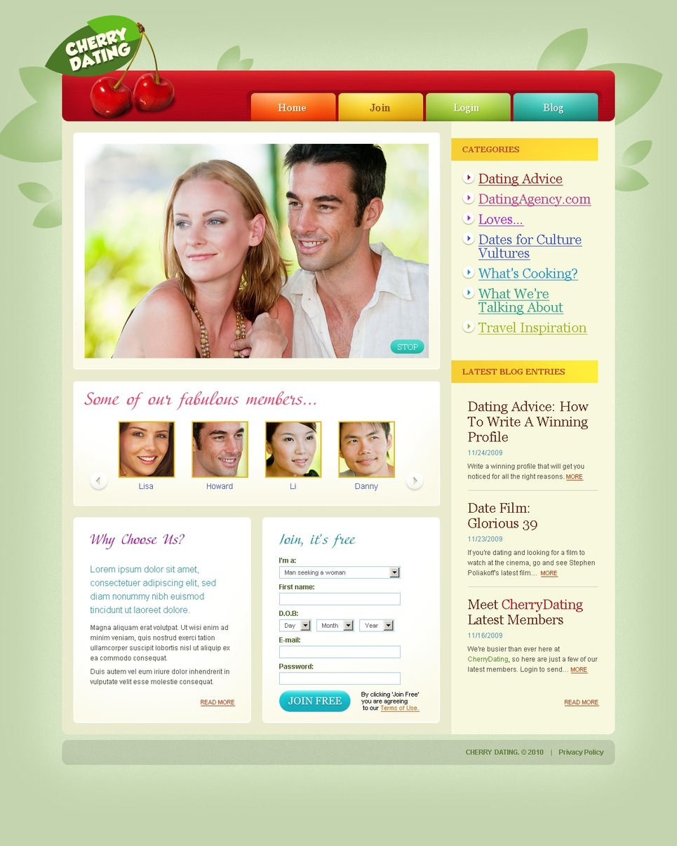 шаблоны для создания сайта интим знакомства
