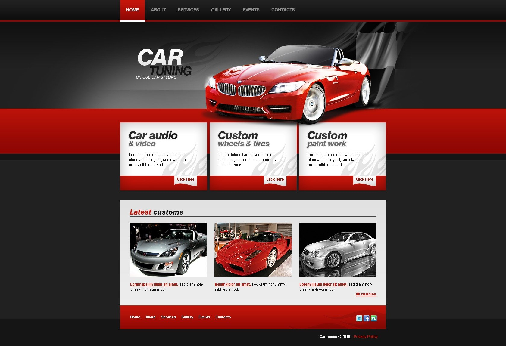 car repair website templates template monster autos post. Black Bedroom Furniture Sets. Home Design Ideas