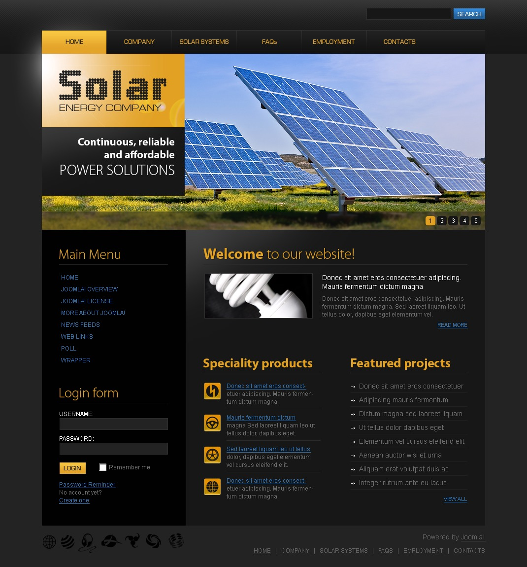 Solar Energy Joomla Template #28138