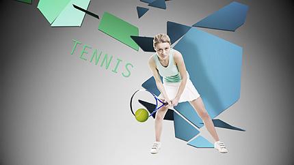 Заставка After Effects на тему теніс №28147