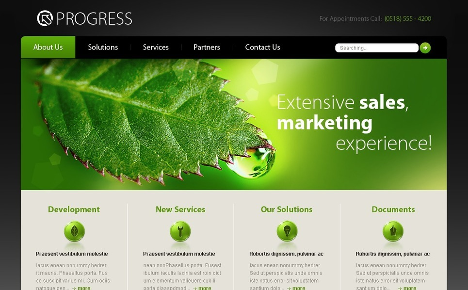 Template Photoshop  para Sites de Business & Services №28212 New Screenshots BIG