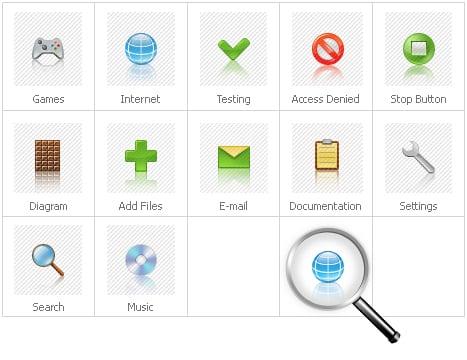 Icon Set Template 28359 Screenshots