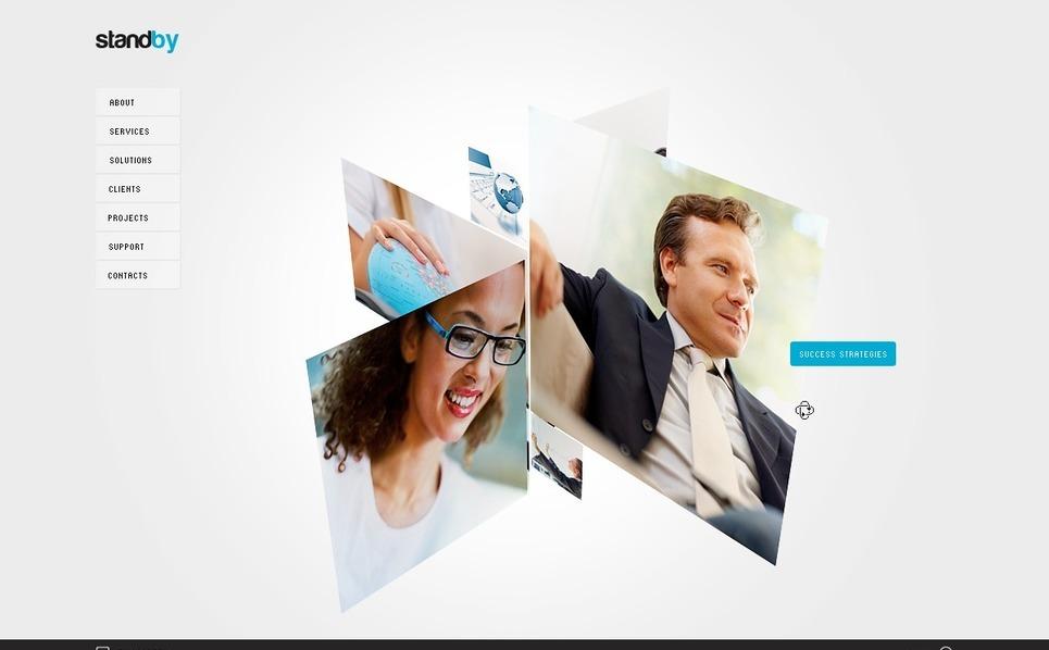 Szablon Flash CMS #28369 na temat: biznes i usługi New Screenshots BIG