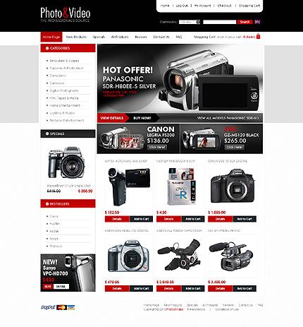 ZenCart Template 28391 Main Page Screenshot