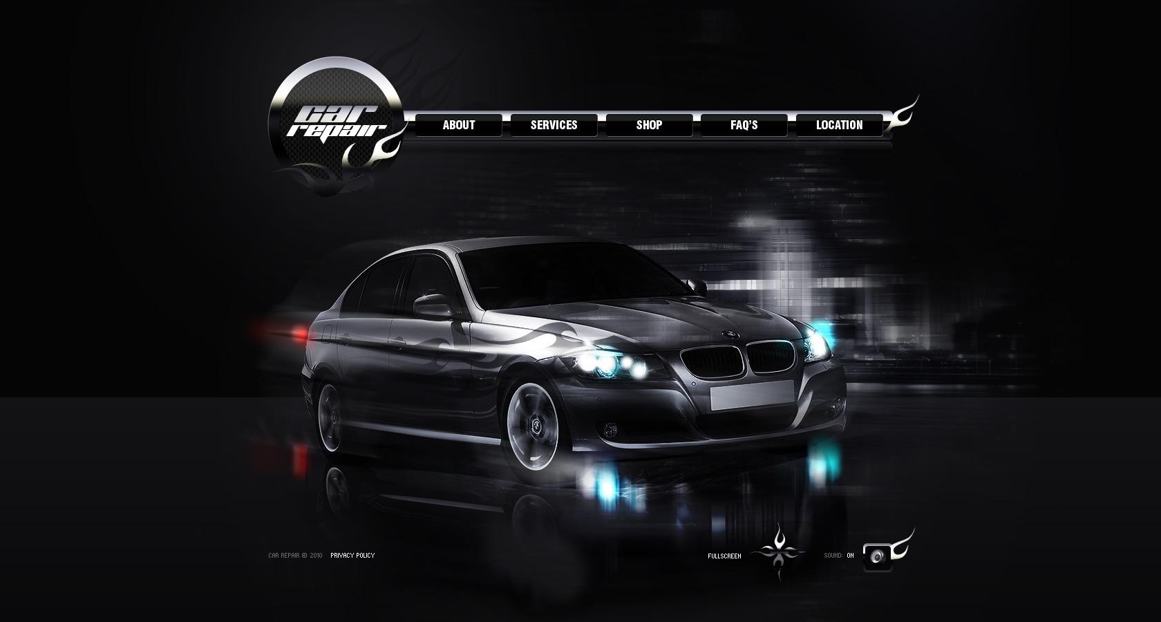 car repair flash template  28340