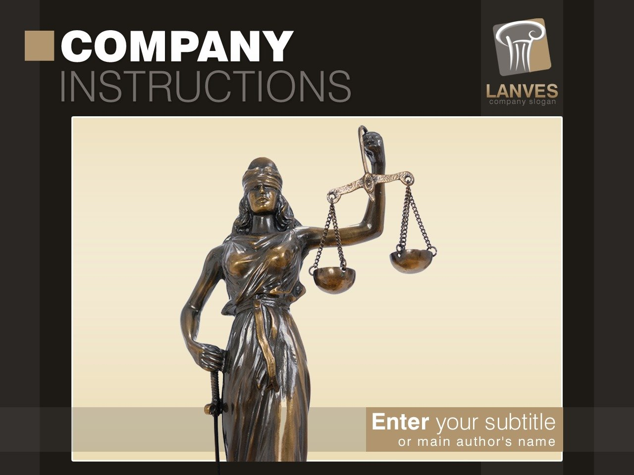 PowerPoint шаблон №28325 на тему юрист