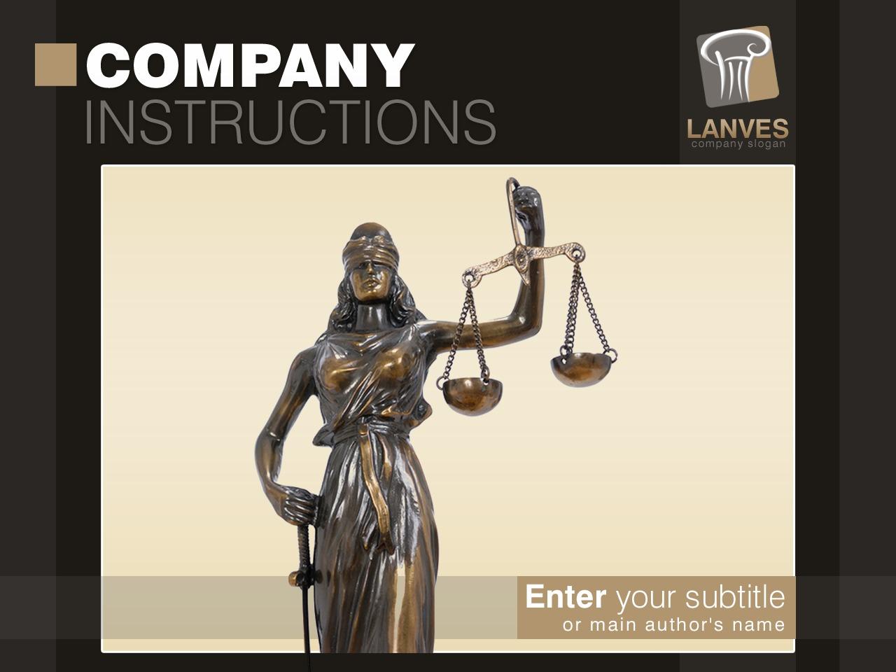 PowerPoint Template over Jurist №28325 - screenshot