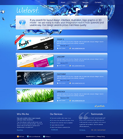 ADOBE Photoshop Template 28409 Home Page Screenshot