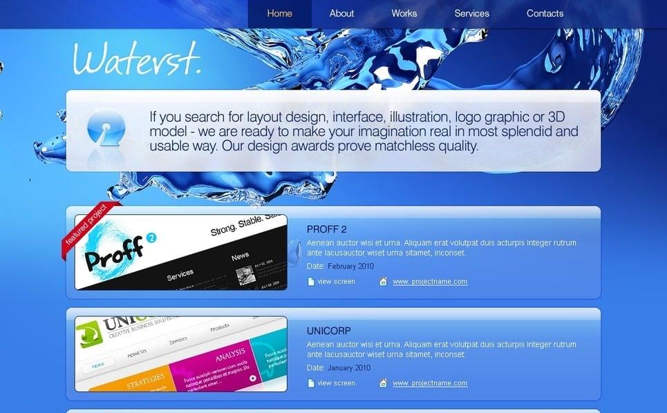PSD шаблон на тему веб дизайн New Screenshots BIG
