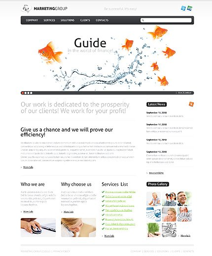 ADOBE Photoshop Template 28410 Home Page Screenshot