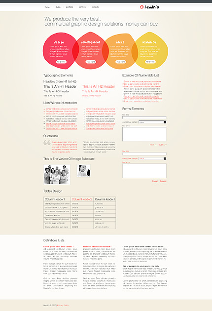 ADOBE Photoshop Template 28412 Home Page Screenshot