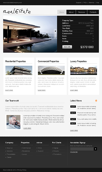 ADOBE Photoshop Template 28477 Home Page Screenshot