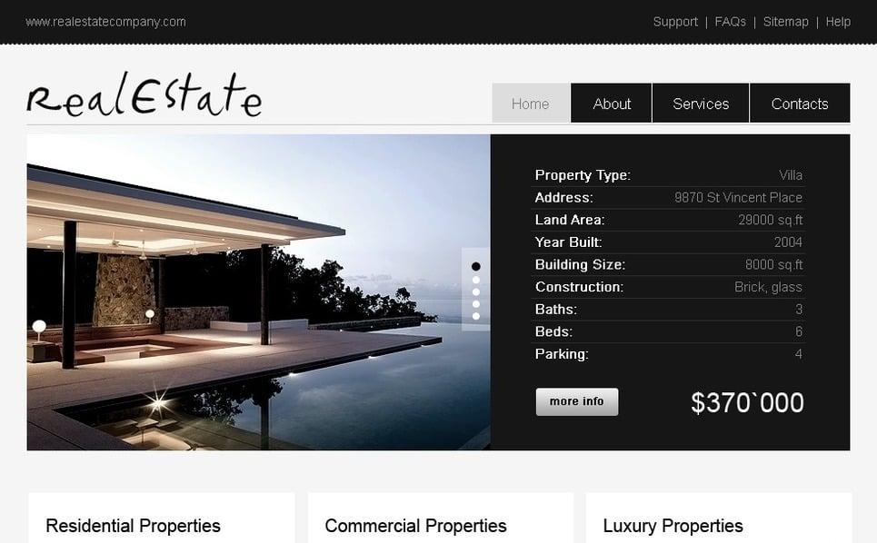 Plantilla PSD #28477 para Sitio de Agencia inmobiliaria New Screenshots BIG