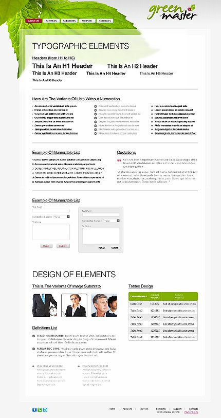 ADOBE Photoshop Template 28479 Home Page Screenshot