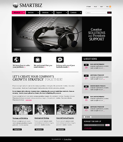 ADOBE Photoshop Template 28481 Home Page Screenshot