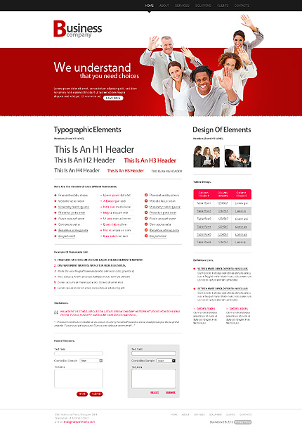 ADOBE Photoshop Template 28483 Home Page Screenshot