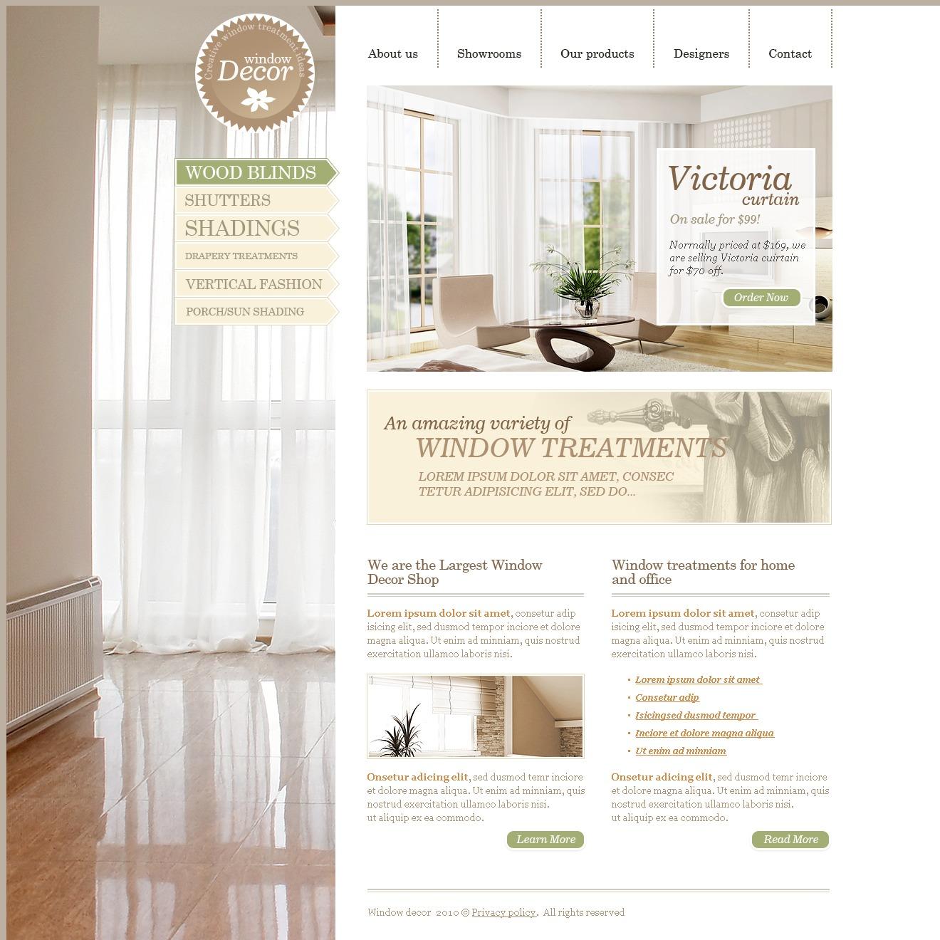 窗口装修网站PSD模板 #28480