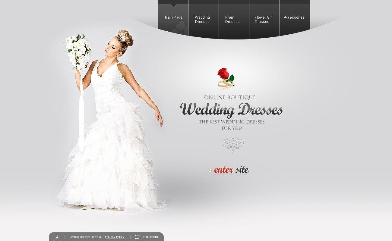 Wedding Dresses Flash Template #28498