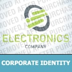 Electronics Corporate Identity Template 28552