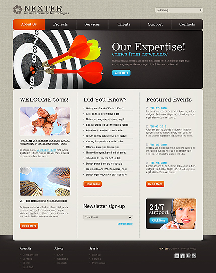 ADOBE Photoshop Template 28582 Home Page Screenshot