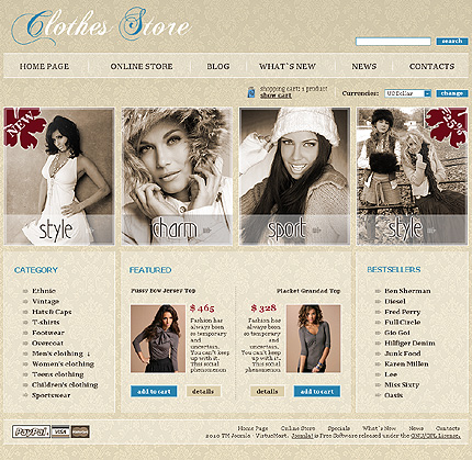 ADOBE Photoshop Template 28590 Home Page Screenshot