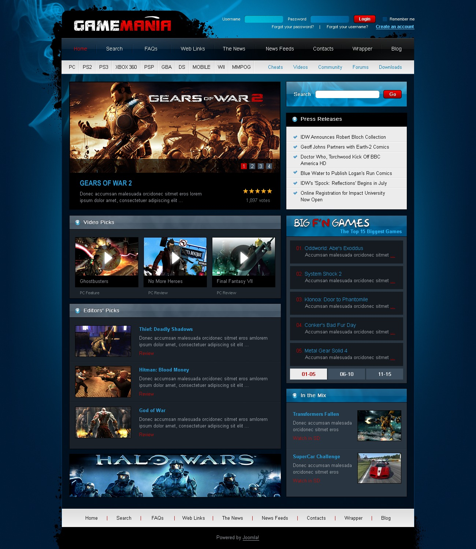 games joomla template 28532