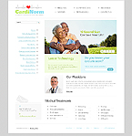Flash Animated: Medical Full Site CSS Flash 8 Wide Templates White Templates