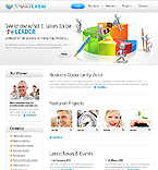 Flash Animated: Business Full Site CSS Most Popular Flash 8 Wide Templates White Templates