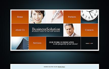 SWiSH Template 28689 Main Page Screenshot
