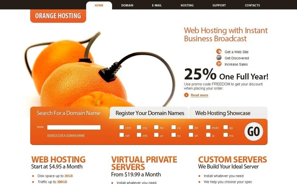Szablon PSD #28698 na temat: hosting New Screenshots BIG