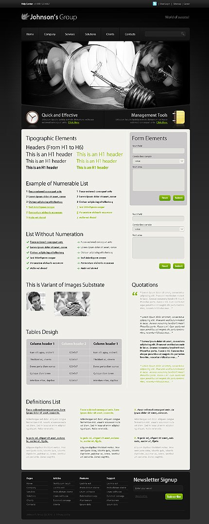 ADOBE Photoshop Template 28811 Home Page Screenshot