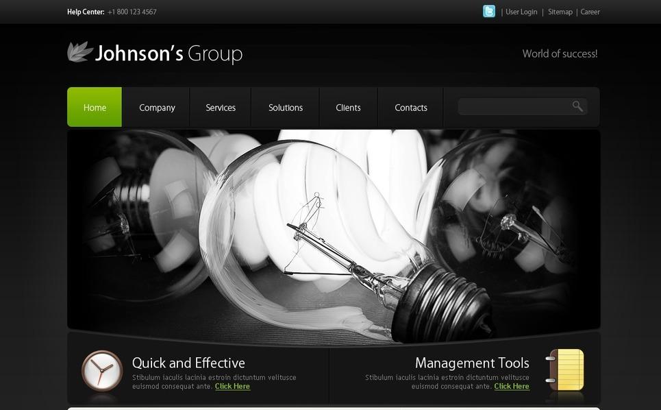 PSD шаблон №28811 на тему Бизнес и услуги New Screenshots BIG