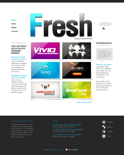 ADOBE Photoshop Template 28812 Home Page Screenshot