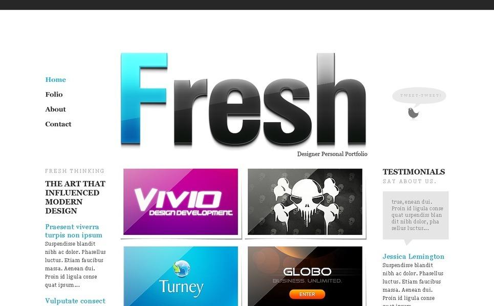 设计师组合网页PSD模板 New Screenshots BIG