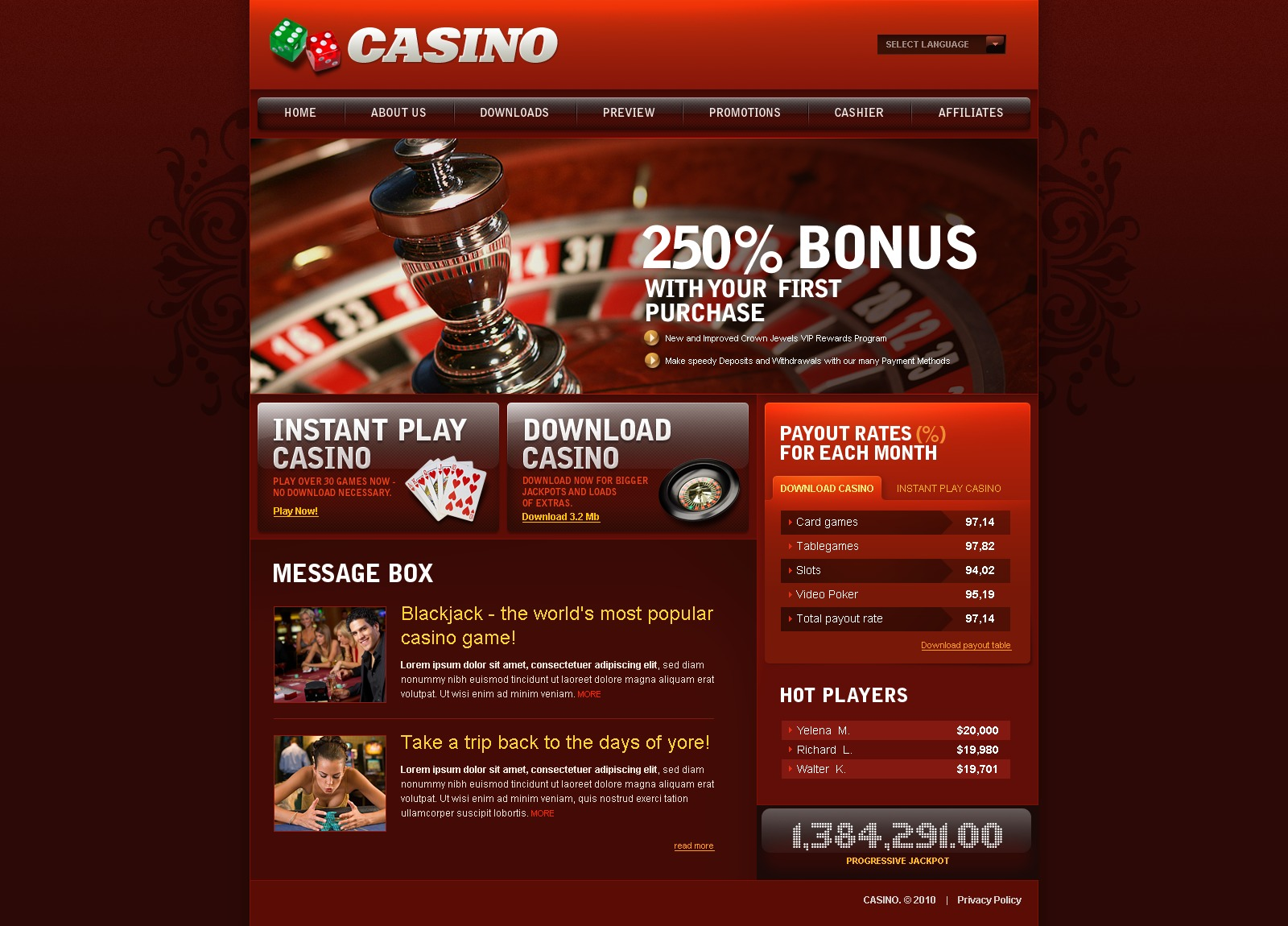 Casinos websites calif indian casino slot regulations