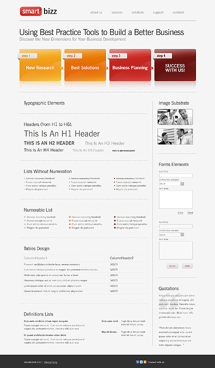 ADOBE Photoshop Template 28886 Home Page Screenshot