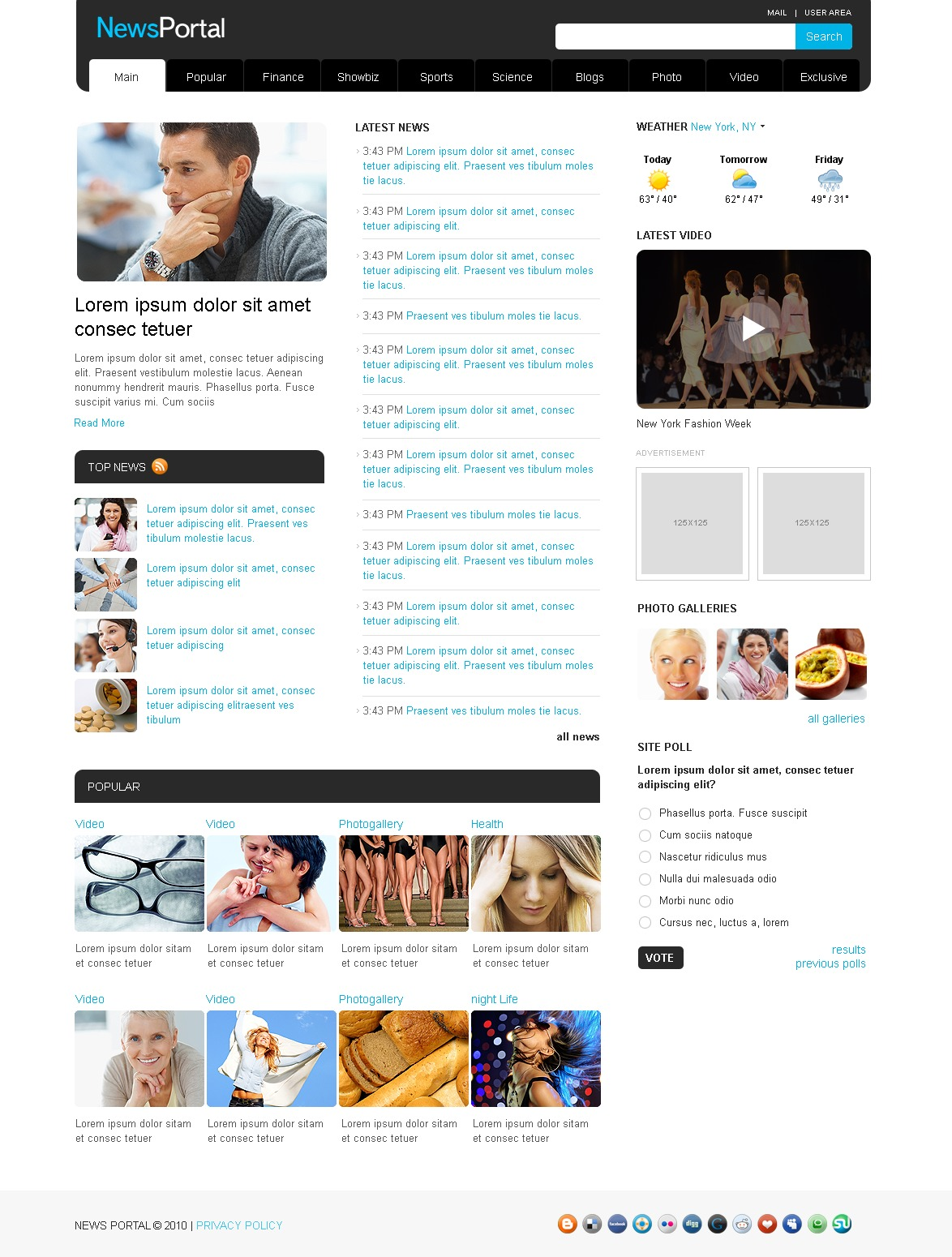 News Portal Website Template #28817