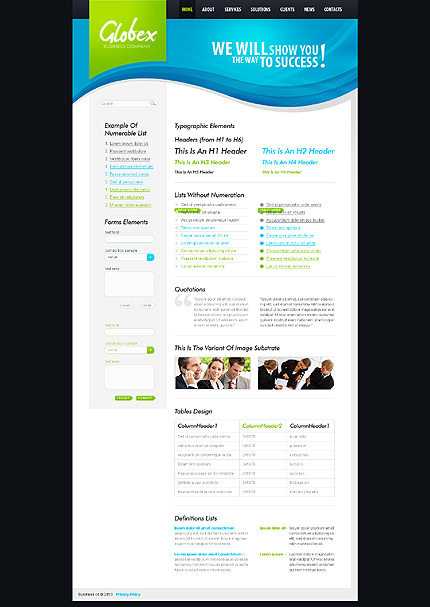 ADOBE Photoshop Template 28973 Home Page Screenshot
