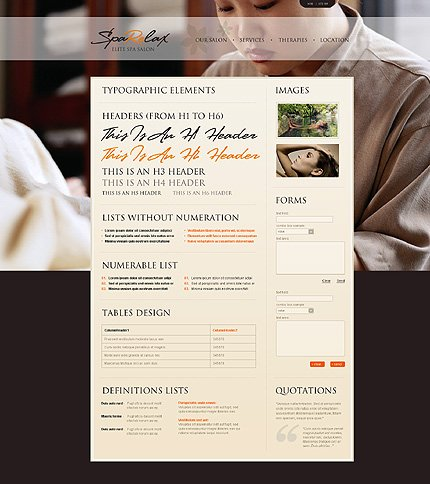 ADOBE Photoshop Template 28991 Home Page Screenshot