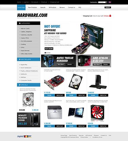 ZenCart Template 29009 Main Page Screenshot