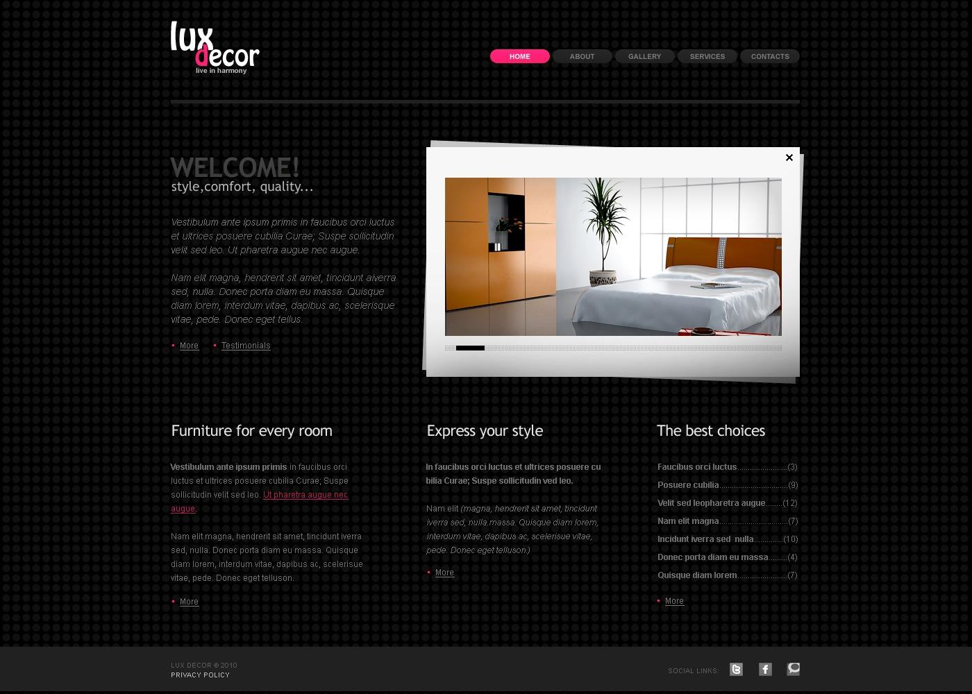 Plantilla web 29023 para sitio de decoraci n del hogar for Webs decoracion hogar