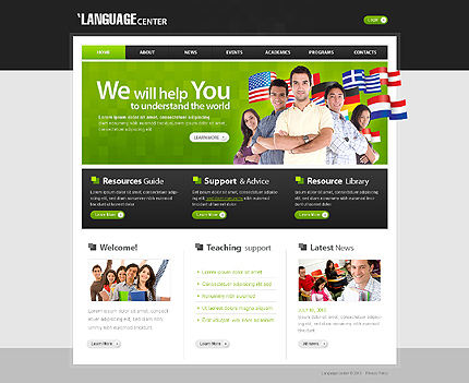 ADOBE Photoshop Template 29038 Home Page Screenshot