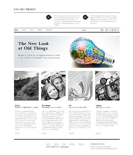 ADOBE Photoshop Template 29039 Home Page Screenshot
