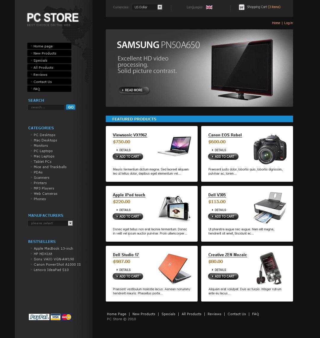 Computer Store ZenCart Template #29008