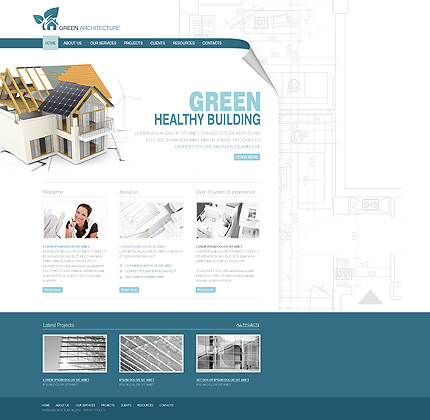 ADOBE Photoshop Template 29273 Home Page Screenshot