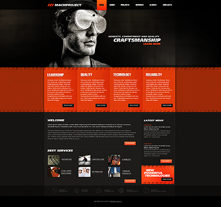 ADOBE Photoshop Template 29275 Home Page Screenshot