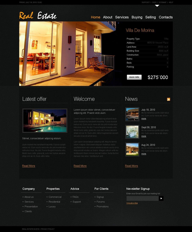 Plantilla web 29300 para sitio de agencia inmobiliaria for Agencia inmobiliaria