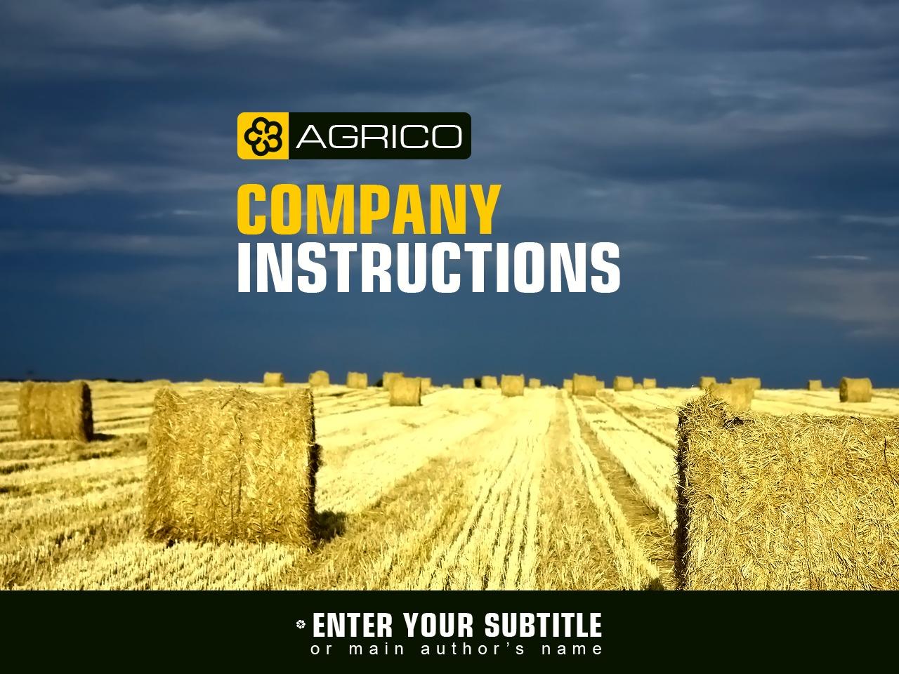Szablon PowerPoint #29322 na temat: rolnictwo