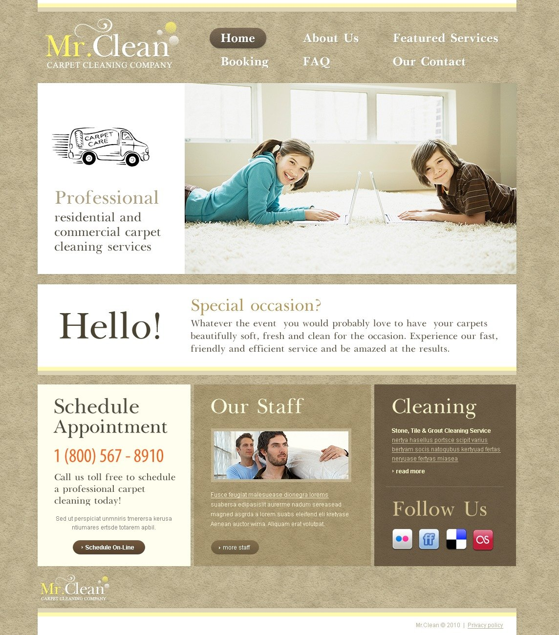Cleaning Website Template #29457
